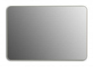 Зеркало Wenz Design QR-silver-H скругленное / без контурной подсветки