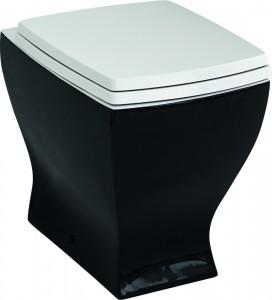 Унитаз приставной ArtCeram Jazz JZV002 черный с белым
